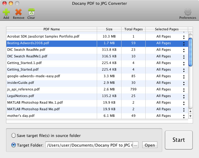 Convert PDF files to image files in batch.